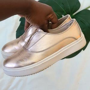 Dr Scholl's slip on metallic sneakers